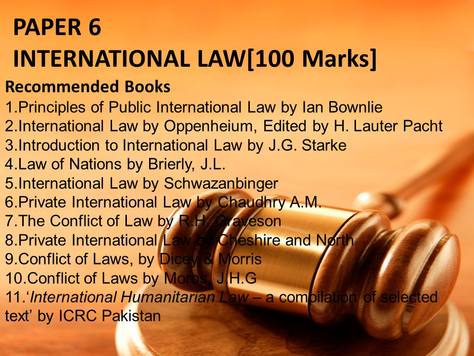 INTERNATIONAL LAW[100 Marks]